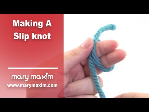 Learn How to Crochet for Beginners: Making a Slip Knot with Slow Motion - 동영상