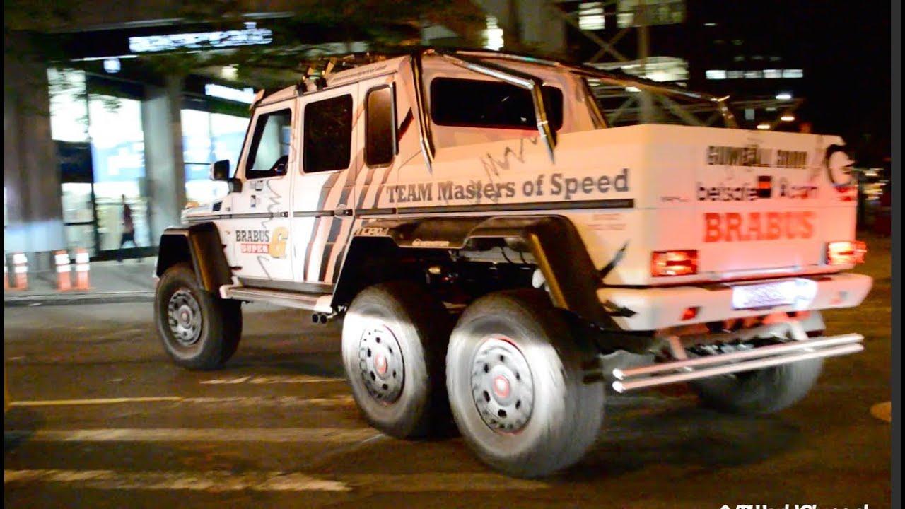 Gumball 3000 Brabus Mercedes G63 AMG 6x6 700 Police Car NYC