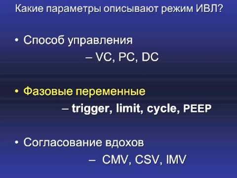 М-Класс ИВЛ 1 лек1