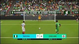 NIGERIA vs ENGLAND | Penalty Shootout | PES 2018 Gameplay PC