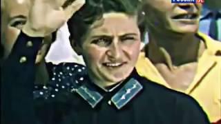 Первый цветной фильм СССР.  Парад молодежи на Красной пл. Москва. 1939