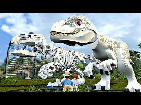 Lego Jurassic World 5.Индоминус Рекс на свободе.Мультики лего Динозавры.Мир Юрского Периода.#Lego
