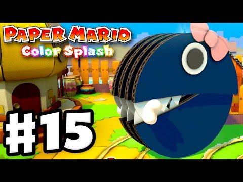 Paper Mario: Color Splash - Gameplay Walkthrough Part 15 - Princess Returns! (Nintendo Wii U)