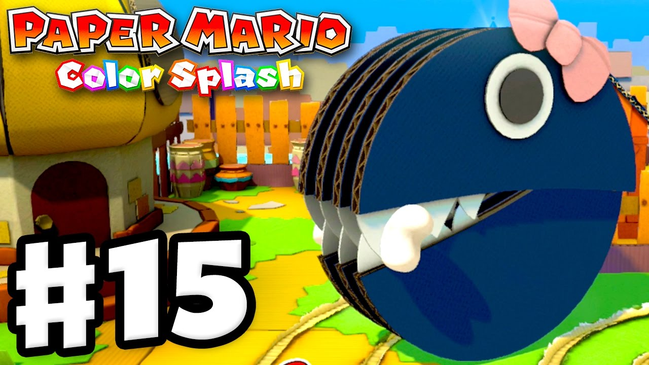 Paper Mario Color Splash Gameplay Walkthrough Part 15 Princess Returns Nintendo Wii U
