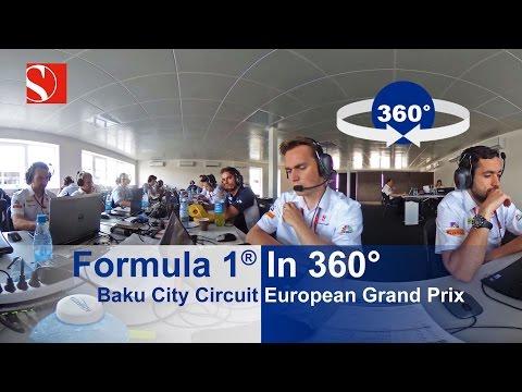 Formula One in 360° - Baku City Circuit - European Grand Prix - Sauber F1 Team