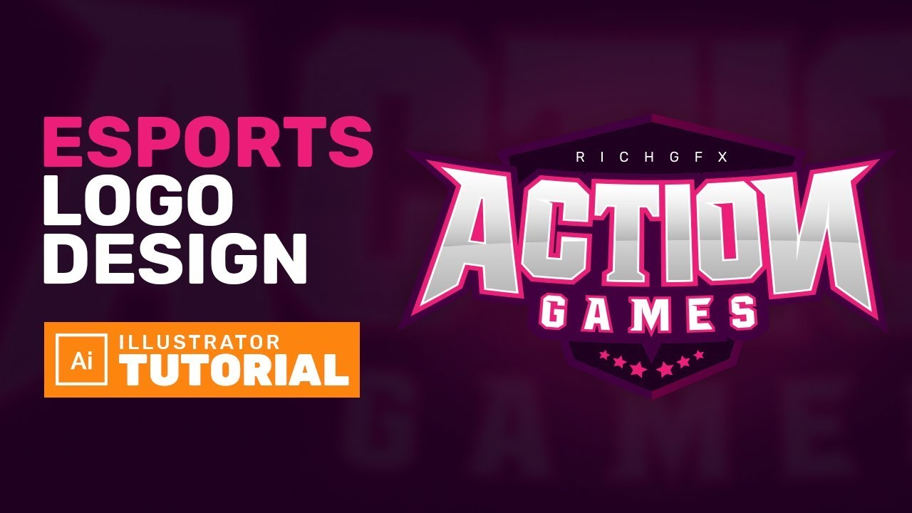 eSports Gaming Logo Design - Adobe Illustrator Tutorial