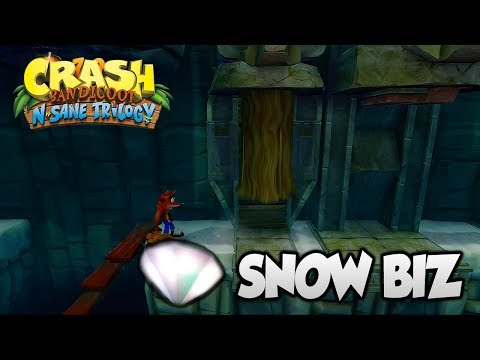 "Crash Bandicoot 2 - ""Snow Biz"" 100% Clear Gem and All Boxes (PS4 N Sane Trilogy)"