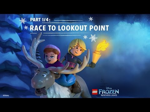 LEGO Disney Frozen Northern Lights (Part 1/4): Race to Lookout Mountain | Disney