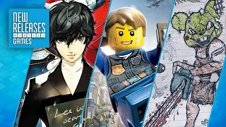 Persona 5, Lego City Undercover, Drawn To Death - New Releases