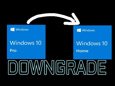 How To Downgrade Windows 10 Pro To Windows 10 Home Edition 🔴Step By Step🔴
