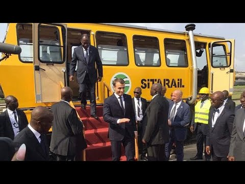[Photos] Ouattara, Macron launch work on Abidjan metro