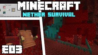 Minecraft Nether Survival - TREE FARM AND PORK-CHOPS! - E03