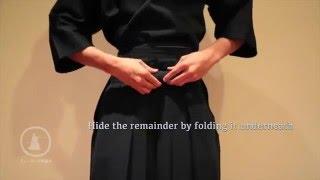 How to tie a Hakama