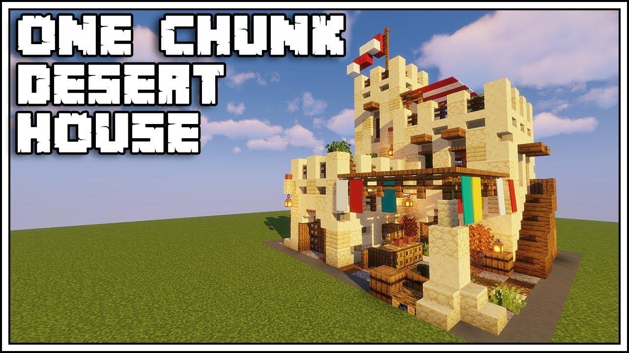 Minecraft 1 14 One Chunk Desert House Tutorial Youtube