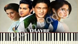 Daayre (Dilwale) Piano Tutorial | Notes | Sheet Music | Midi ~ Piano Daddy