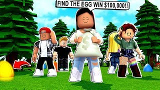 FIRST PERSON TO FIND THE GOLDEN EGG WINS $100,000! - Roblox