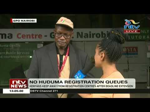 Kenyans keep away from Huduma registration after deadline extension
