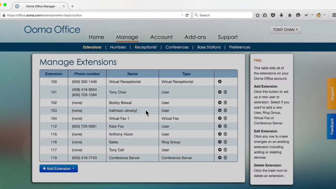 How to Manage Your Ooma Office Extensions
