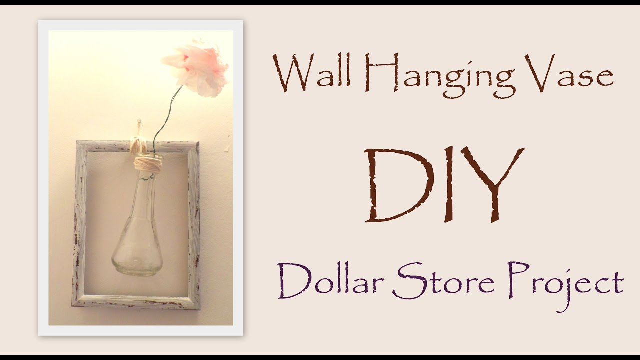 Wall Decor Stores Diy Wall Decorhanging Vase With Paper Flower Easy Dollar Store