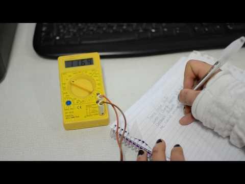 Study of the work of a multimeter . Classes in Kharkiv national university of radioelectronics.