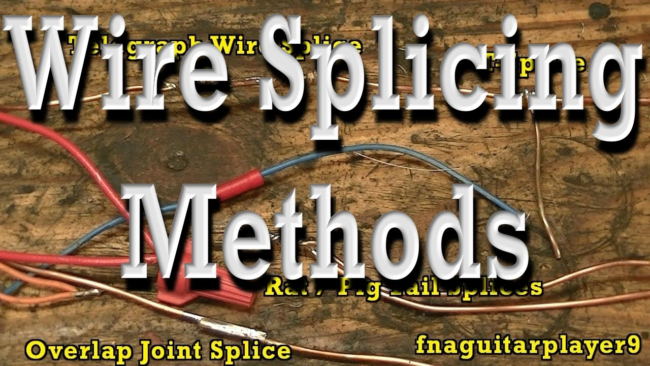 Wire Splicing Methods, Soldering (how to), Crimp and Wire Nut - YouTube