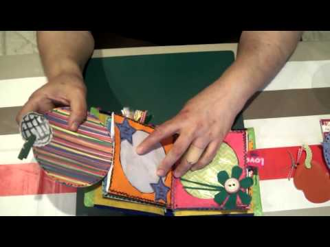 Scrapbook para ni os minialbum de fundas de cds tutorial 1 parte manualidades para ni os - Manualidades para navidad ninos ...
