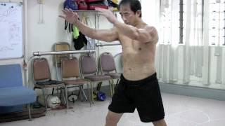 Repeat youtube video Chow Gar Mantis Qi Kong San Bu Jian 周家螳螂氣功三步箭 (Part 1/2)