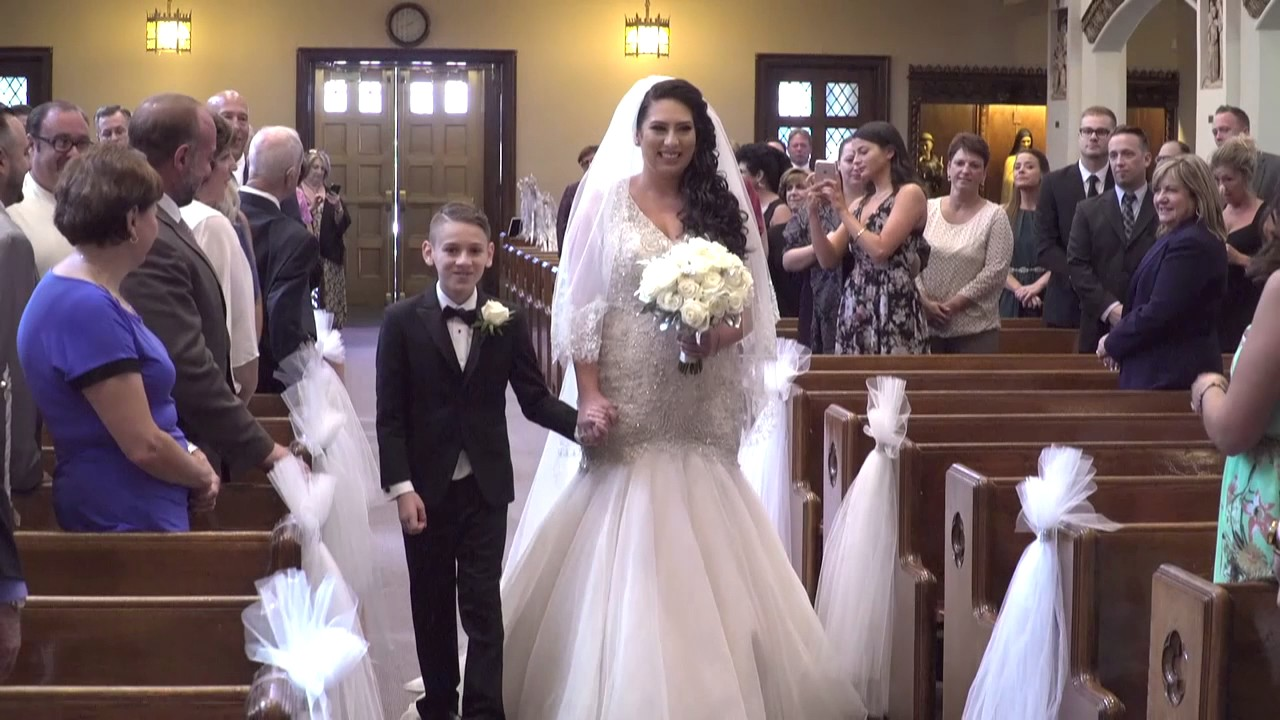 Brides Young Son Walks Her Up The Aisle