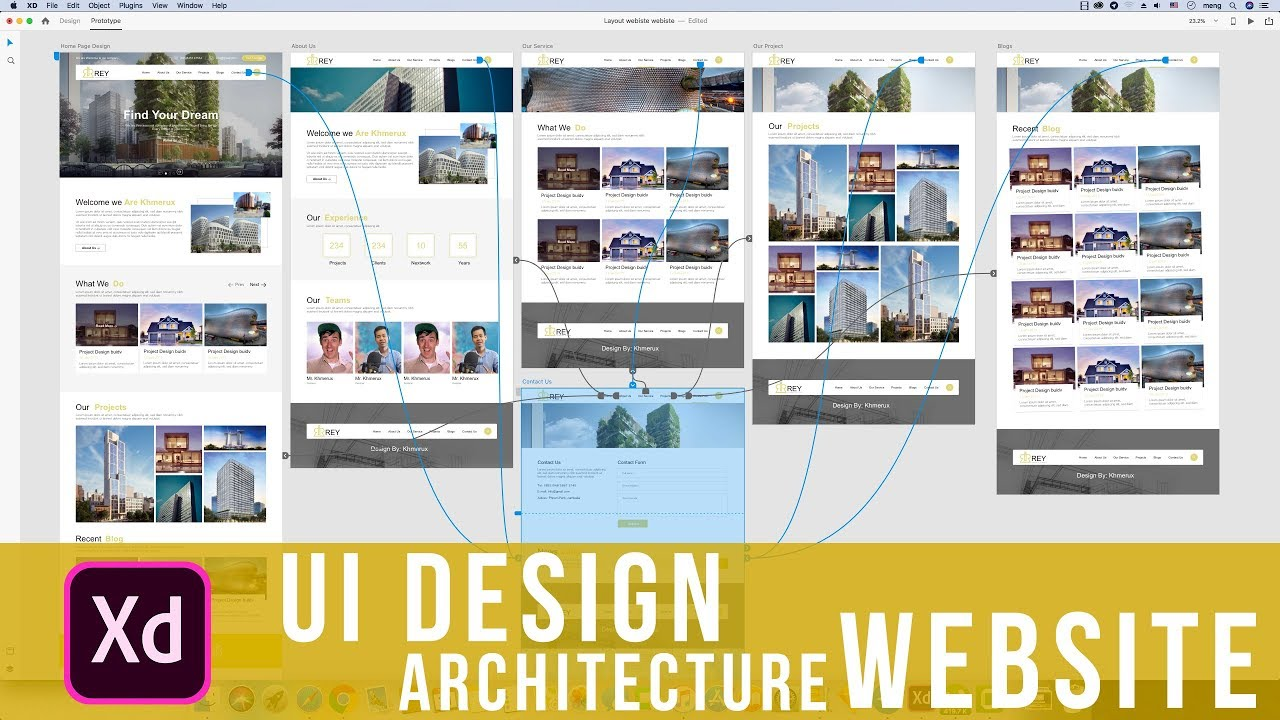 How to Design UI website architecture use Adobe XD CC 2019 it simple Tool but effective Full