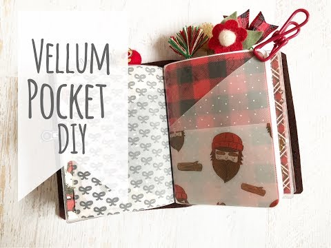 Vellum Pocket DIY