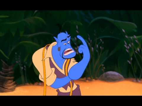 Genie Transforms Aladdin