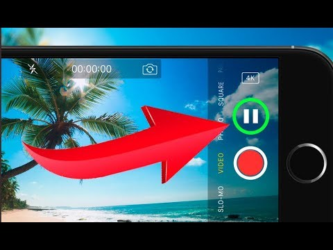 how to pause while taking a video on iphone