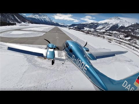 Diamond DA62, Landing On Europe's Highest Airport And Taxiing To The Apron