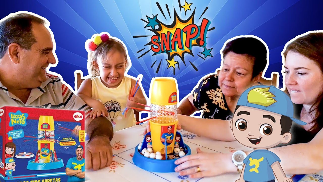 Maria Clara brincando de Desafio Cata-Varetas | Luccas Neto - Família MC Divertida