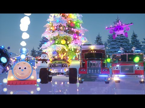 Learn Colors while Racing with Max the Glow Train and his Friends - TOYS (Colors and Toys)