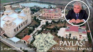 PAYLAŞ! Nazir-oliqarx Ziya Məmmədovun milyardları tapıldı! İLK DƏFƏ EFİRDƏ - ÜÇ VİLLA!