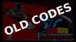 👉 NEW CODES 👈 October 2019 ➤ Be Crushed by a Speeding Wall ➤ Roblox