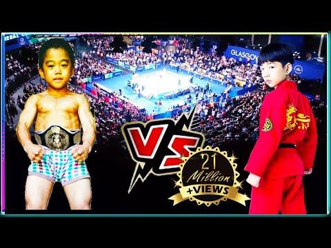 Lin Qiunan VS Ryusei Imai   -  Taekwondo Kid VS Kung Fu Kid