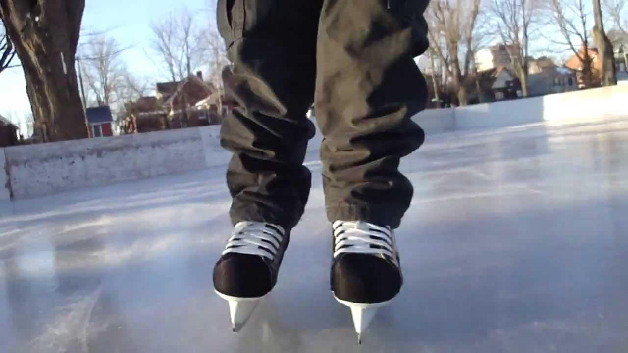Roller skating rink ontario - Ice Skating At Mcburney Park Rink Close Up Of Skates Kingston Ontario Canada Youtube