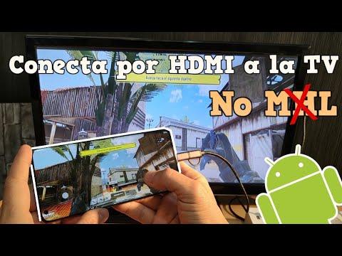 Conecta por cable HDMI Cualquier Android a tu Televisión para Jugar