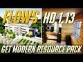 How to get Modern Texture Pack in Minecraft 1.13 - download install Flows HD resource pack [1.13]