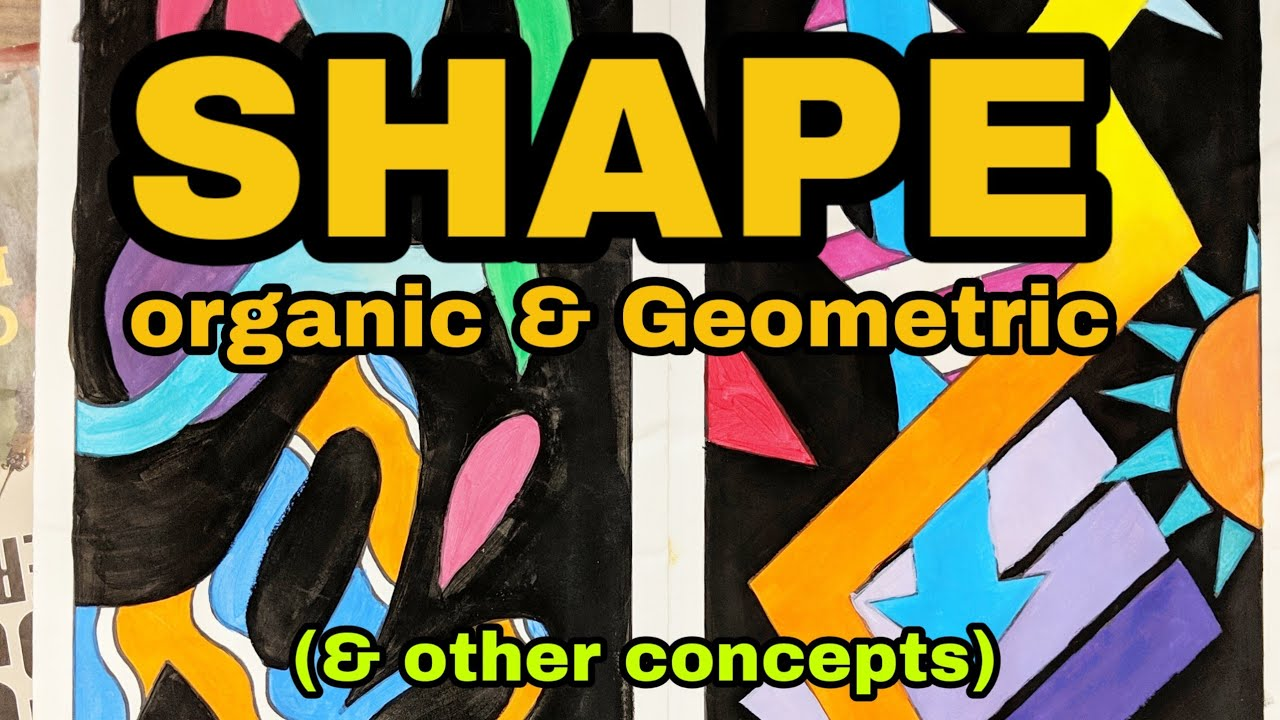 Shape Project Part 1 Organic And Geometric Overlapping And Composition Theartproject 2018 Youtube