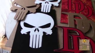 3D Glow in the Dark Daredevil and Punisher Logos