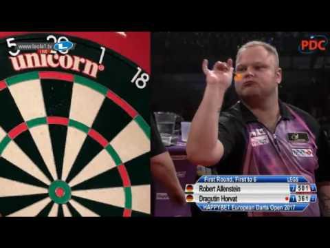 2017 European Darts Open Round 1 Allenstein vs Horvat