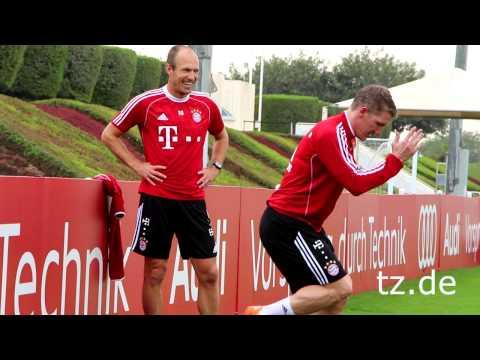 FC Bayern in Doha:'Arjen Robben' und 'Bastian Schweinsteiger' machen Fortschritte (06.01.2014)