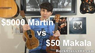 $50 Makala Ukulele vs $5000 Vintage Martin 3k Ukulele