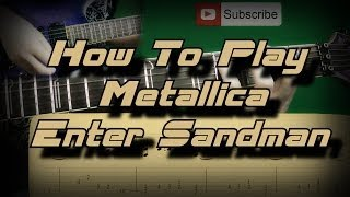 How To Play Metallica - Enter Sandman (All Rhythm Part) Как играть, Guitar lesson