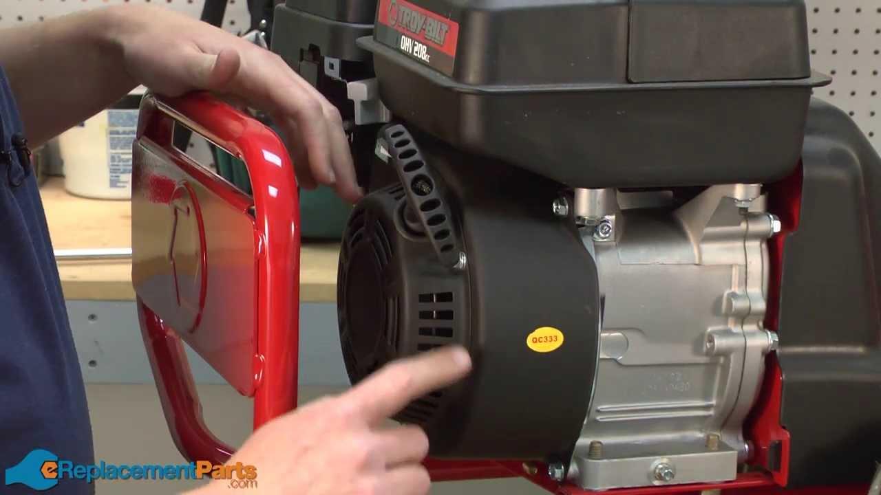 How To Replace The Starter Assembly On A Troy-bilt Super Bronco Tiller  Part   951-12418