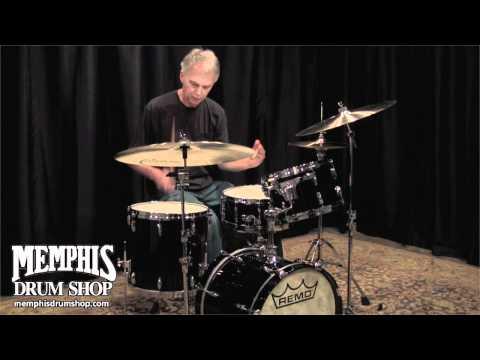 Remo Gold Crown Bebop Drum Set - Black Laquer