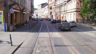 Tramwaj w Gliwicach. Przejazd Gliwice Wójtowa Wieś - Zabrze Zaborze Pętla. Część 1/6